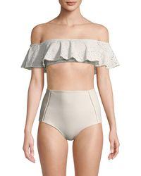 Jonathan Simkhai Bandeau Ruffle Bikini Top - Multicolour