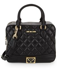 Love Moschino - Quilted Top Handle Bag - Lyst