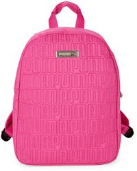 PUMA Mini Quilted Logo Backpack - Black