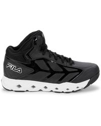 Fila Men's Men's Torranado High-top Sneakers - Black White - Size 9.5