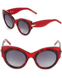 Pomellato - 48mm Round Printed Sunglasses - Lyst