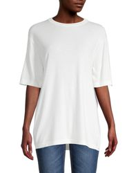 The Row Crewneck Merino Wool-blend Top - White