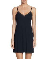 Natori - Feather Essential Lace Trimmed Chemise - Lyst