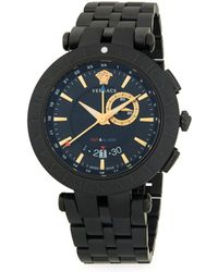 Versace - Medusa Stainless Steel Chronograph Watch - Lyst