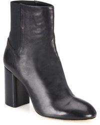 Rag & Bone Agnes Leather Block Heel Booties - Black