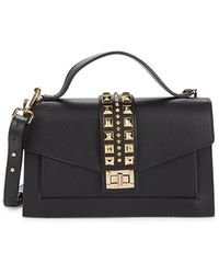 Valentino By Mario Valentino Women's Adrienne Studded Leather Crossbody Bag - Black