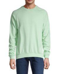 Trunks Surf & Swim Terry Raglan-sleeve Sweatshirt - Soft Blue - Size M