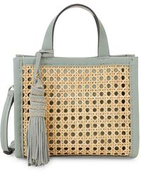 Vince Camuto Bamboo & Leather Open Weave Mini Bag - Pink
