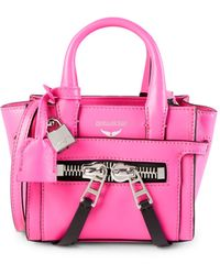 Zadig & Voltaire Candide Leather Top Handle Bag - Pink