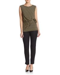 Chaus New York - Printed Side-tie Top - Lyst