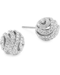 Adriana Orsini Crystal Artemis Ball Earrings - Metallic