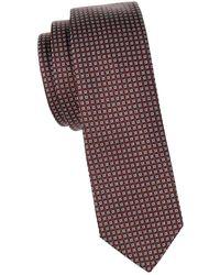 Valentino - Square Silk Skinny Tie - Lyst