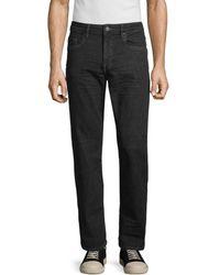 Buffalo David Bitton Six X Straight Jeans - Black
