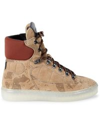 AllSaints Men's Jace Suede High-top Sneakers - Taupe - Size 11 - Brown