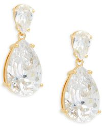 Adriana Orsini Goldtone & Crystal Pear Drop Earrings - Multicolour