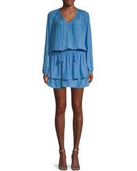 Ramy Brook Dorsey Blouson Dress - Blue