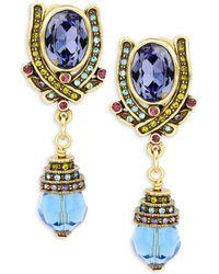 Heidi Daus - Crystal-embellished Drop Earrings - Lyst
