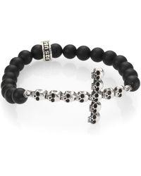 King Baby Studio - Onyx Bead Bracelet - Lyst