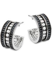 John Hardy Sterling Silver Hoop Earrings - Metallic