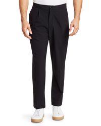 Saks Fifth Avenue Modern Seersucker Trousers - Black