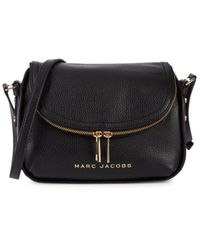 Marc Jacobs Women's Mini The Groove Leather Messenger Bag - Fire Red - Black