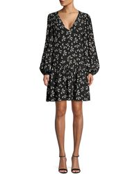 Officine Generale Women's Carlotta Floral Silk Peasant Dress - Black - Size 2
