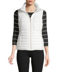 Marc New York Quilted Packable Vest - White
