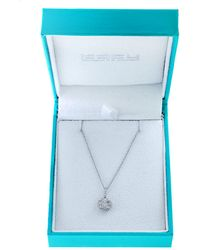 Effy Super Buy 14k White Gold And Diamonds Round Pendant Necklace - Multicolour