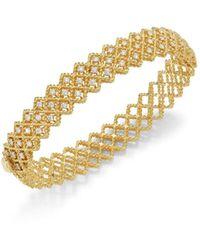 Roberto Coin Women's Barocco Diamond & 18k Yellow Gold Bangle - Metallic