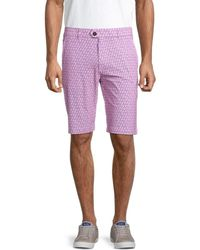 Greyson Printed Shorts - Purple