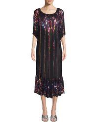 Carolina K Charro Sequin Midi Dress - Multicolour