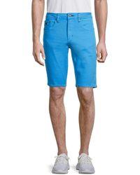 Buffalo David Bitton Men's Parker-x Stretch Slim-fit Denim Shorts - Azure - Size 36 - Blue