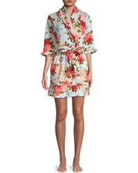 Betsey Johnson - Floral Ruffled Robe - Lyst