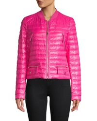Ferragamo - Quilted Long-sleeve Jacket - Lyst