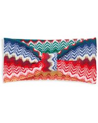 Missoni Women's Printed Cotton Headband - Pink Blue Multi