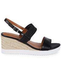 Bandolino Wedge Buckled Sandals - Black