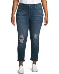 Vigoss - Plus Distressed Skinny Jeans - Lyst