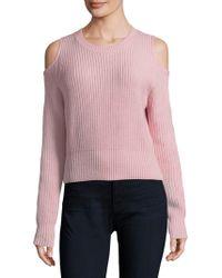 Zoe Jordan - Galen Cold Shoulder Crop Sweater - Lyst