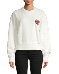 Rebecca Minkoff Heart Patch Cotton Sweatshirt - White