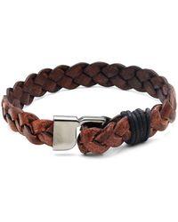 Saks Fifth Avenue - Braided Leather Bracelet - Lyst
