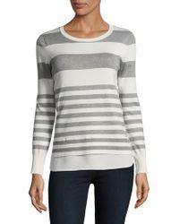 CALVIN KLEIN 205W39NYC - Stripe Two-fer Sweater - Lyst