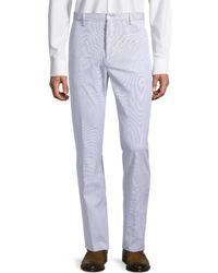 Zanella - Men's Noah Textured Regular-fit Pants - Blue - Size 34 - Lyst