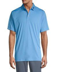 J.Lindeberg Men's Kv Seasonal American-fit Logo Polo - Stone Grey - Size Xxxl - Blue