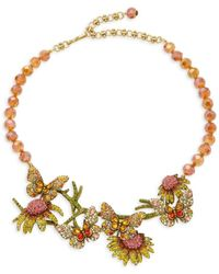 Heidi Daus Goldtone & Multicolored Crystal Necklace - Metallic