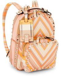 Valentino - Rockstud Striped Backpack - Lyst