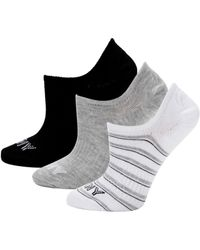 DKNY 3-pack Logo No-show Socks - Black