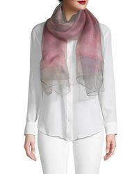 Saachi Women's Ombre Glitz Silk Scarf - Pink Combo