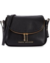 Marc Jacobs Mini The Groove Leather Messenger Bag - Brown