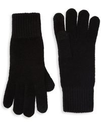UGG Wool-blend Knit Tech Gloves - Black