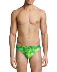 Versace Jungle-print Swim Briefs - Green